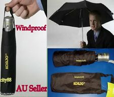 KORJO Windproof Auto Automatic Open&Close Folding Mens Womens Umbrella Black New
