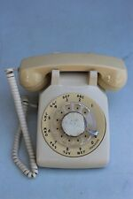 VTG BEIGE CD 500 ROTARY DIAL TELEPHONE (6-64) AT&T 500 DM Made in USA