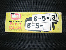Vintage Ideal New Math Flash Cards Subtraction 1963