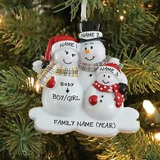 We're EXPECTING BABY Family of 3 Personalized Christmas Tree Ornament 2016