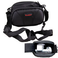 Black Camera Case Bag Pouch For Canon PowerShot SX500IS SX400IS SX170IS XS700HS