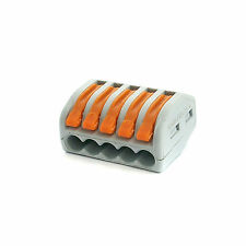 1 x Spring Terminal Block Cable 5 Wire Conductor Compact Connector 28-12AWG