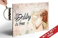 HARRY POTTER Dobby Is Free POSTER Wall Art Gift 30X21cm Home Decor for Fans Kids