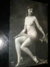 Old postcard nude deco woman pearls French J Mandel Paris 242 c1910s - 1920s