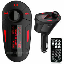 Car Kit MP3 Music Player FM Transmitter Radio Modulator With USB & SD Port Red