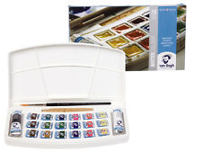 Royal Talens - Van Gogh Watercolour 18 Half Pan + 2 Tube Plastic Box Set