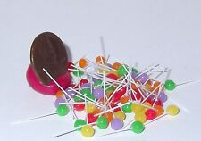 Miniature Dollhouse 10 Easter Assorted Ball Suckers Lollipops Candy Shop #2696