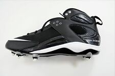 NIKE ZOOM BLADE PRO D Size 14 Black White Football Cleats 315776 011 Detach