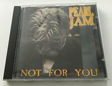 "Pearl Jam ""NOT FOR YOU"" Live USA 94 RARE - MINT silver bootleg"