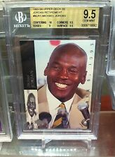 1993-94 Upper Deck SE. Retirement Card MICHAEL JORDAN BGS 9.5!!!