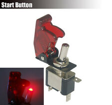 Turbo Missile Boost Switch Control 12V 20A SPST Toggle Start Ignition Red Led