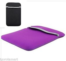 "PURPLE BAG 7"" REVERSIBLE SLEEVE CASE POUCH BAGs 7 INCH ANDROID PC TABLET"