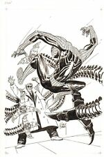 Spider-Man vs. Doc Ock Commission - Signed art by Joe Kubert