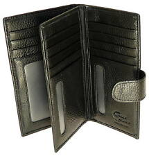 Genuine Premium Hide Tall Soft Black Leather Credit Card Holder