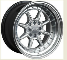 XXR 002.5 15X8 WHEEL 4X100/114.3 +20 HYPER SILVER FITS INTEGRA ACCORD CIVIC CRX
