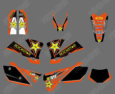 TEAM GRAPHICS & BACKGROUND DECALS FOR KTM EXC 125/200/250/300/400/450/525 2004 G
