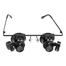 LED Lupenbrille ,Brillenlupe ,Uhrmacher, Lupe Brille Type 20X Vergrößerungsglas