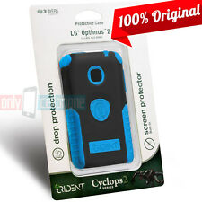 LG Optimus 2 AS680 NET L45C Blue/Black Cover Trident Cyclops Rugged Hybrid Case