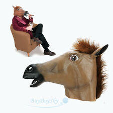 Cosplay Halloween Horse Head Mask Latex Animal ZOO Party Costume Prop Toys Novel
