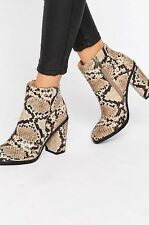 New Look Snake Effect Boots UK 6 New