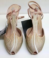 HOLLYWOOD: Charlotte Olympia Siren Gold Femme Fatale Pumps New IT36.5/UK3.5 £500
