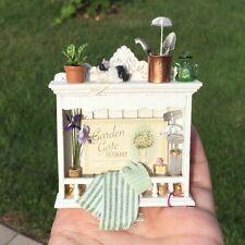 Gardening Wall Shelf by Diane Paone IGMA Artisan - Dollhouse Miniature