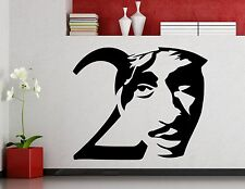 Tupac Shakur 2PAC Wall Decal Vinyl Music Hip Hop Sticker Decor Home Mural (3mu)