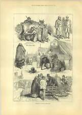 1881 Sketches At Irish Cattle Fair Free Milk Pigs Sale Booth
