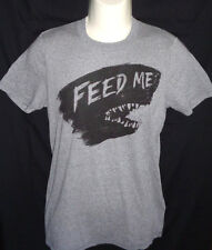 """MENS HOLLISTER """"FEED ME"""" GRAY T-SHIRT SIZE M"""