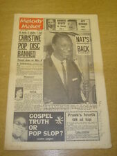 MELODY MAKER 1963 JULY 13 NAT KING COLE RONNIE SCOTT JET HARRIS FRANK IFIELD +