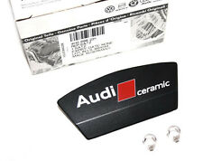 "Audi ""Ceramic"" rear brake caliper logo emblem cover"