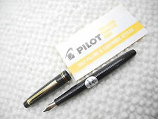 Black PILOT 78G 22K Gold plated FOUNTAIN pen Broad NIB  free 6 cartridge(Japan)
