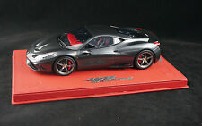 1/18 BBR FERRARI 458 SPECIALE SILVERSTONE GREY ON DELUXE BASE LE 20 PCS N MR