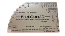 FretGuru 2 Precision 8-in-1+ Guitar String Action Gauge Fret Rocker gift luthier