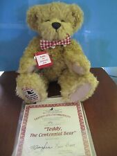 "BRAND NEW ""TEDDY The CENTENNIAL BEAR"" by Vicky Lougher: Ashton-Drake  W/SHIPPER"