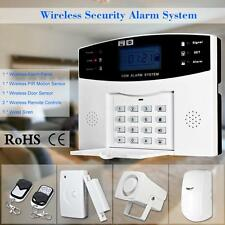 Wireless GSM SMS Home Burglar Security Alarm System Detector Sensor Kit US Y1R2