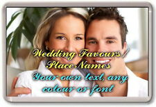 30x FRIDGE MAGNETS - WEDDING DAY FAVOURS / TABLE PLACE NAMES Personalised