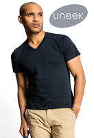 Uneek UC317 Mens Classic V Neck Casual T Shirt 100% Cotton Tee 180 GSM V Shape