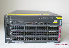 Cisco Switch Bundle WS-C6504-E + WS-SUP720-3B  3 x WS-X6748-GE-TX = 144 ports GB