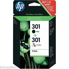 No 301 Negro Y Color Original OEM Cartuchos De Inyección Tinta Para HP 3050SE