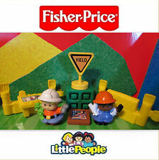 Fisher Price Little People Construction Site Fence Map About Town EUC Play Set