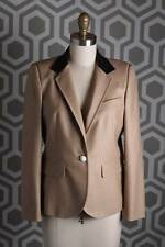 NWT Boy by Band of Outsiders Leather Collar Blazer Jacket 4 Camel Tan $1300