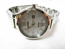Seiko Women's Solar Core White Dial Stainless Steel Watch - SUT207
