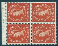 SB11 ½d Crowns left Cyl E13 Wilding booklet pane perf type I UNMOUNTED MNT/MNH