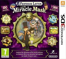 PROFESSOR LAYTON AND THE MIRACLE MASK 3DS *NEW & SEALED*