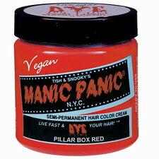 MANIC PANIC Cream Formula Semi-Permanent Hair Color - Pillarbox Red (FREE SHIP)