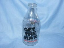 Vintage Old Glass Milk Bottle Advertising Maxwell House Coffee Dairy Crest 1990
