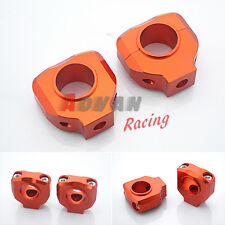 "Orange HANDLEBAR CLAMP 28mm 1-1/8"" For KTM DUKE 125 200 390 2012-2013"