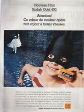 Publicité de presse KODAK nouveau film GOLD 400 french Ad 1991