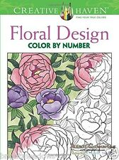 Floral Designs By Number Adult Colouring Book Flowers Creative Gift Garden Sprin